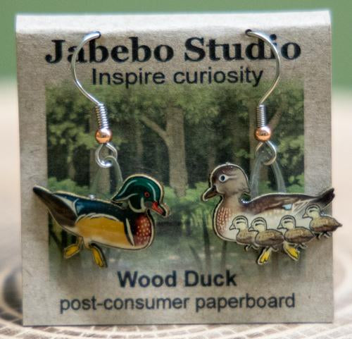 Wood duck earrings