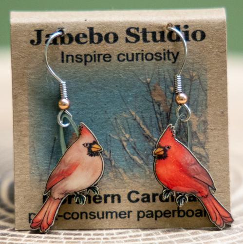 Northern cardinal earrings