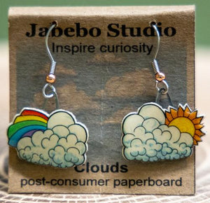 cloud earrings