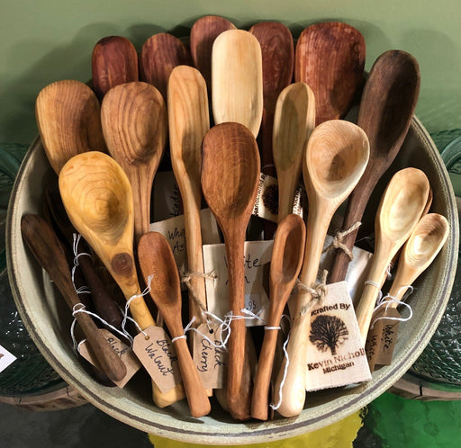 Assorted Wooden Spoons in Dish