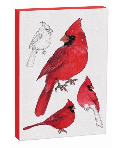Male Cardinal 5x7 Canvas