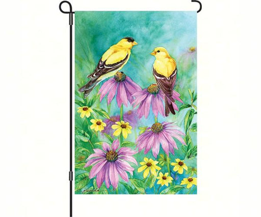 Summer Goldfinches Garden Flag
