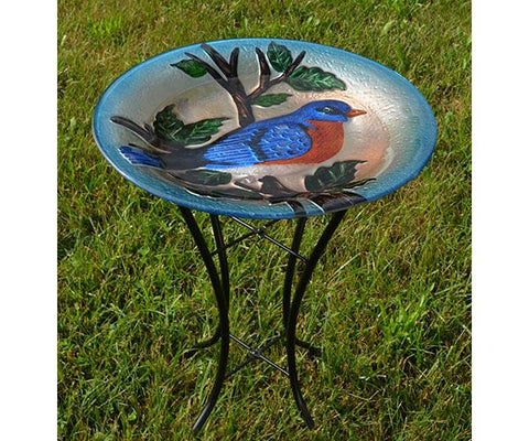 Bluebird Bird Bath with Stand