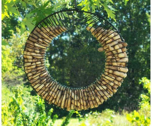 Black whole peanut ring bird feeder