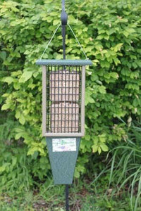 Double Suet Feeder with Tail Prop for woodpeckers