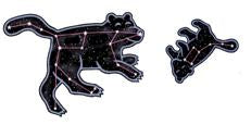 Jabebo ursa major and minor earrings