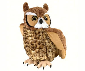great horned owl 12 inch stuffed animal