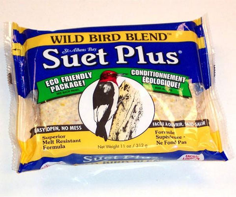 Wild bird plus suet cake eco friendly package