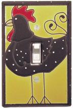 Funky Chicken Single Light Switch Cover