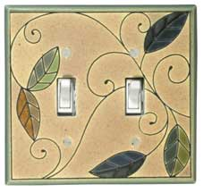 Double Mosaic Leaves Switch Covers