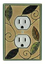 Mosaic Leaves outlet Covers