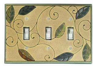 triple Mosaic Leaves Switch Covers
