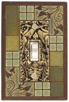 Arts and Crafts light Switch Plate Covers