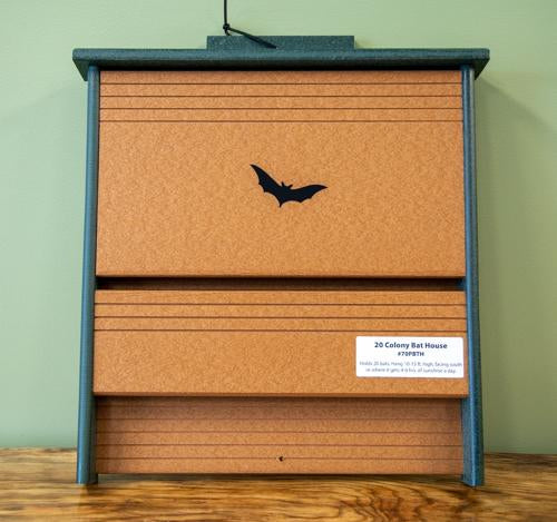 Recycled 20 colony bat house
