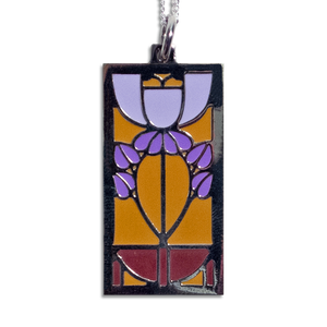 Motawi Bell Flower Pendant Necklace