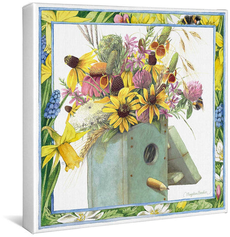 Birdhouse Bouquet Gallery Wrapped Canvas
