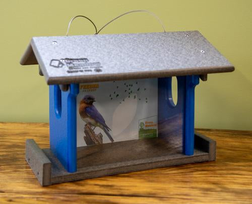USA made blue bird feeder