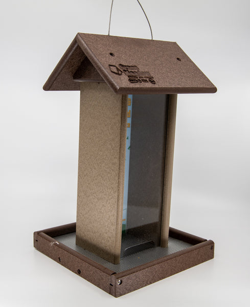 Brown Tall Bird Feeder