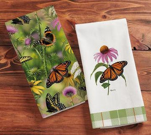 butterfly tea towels