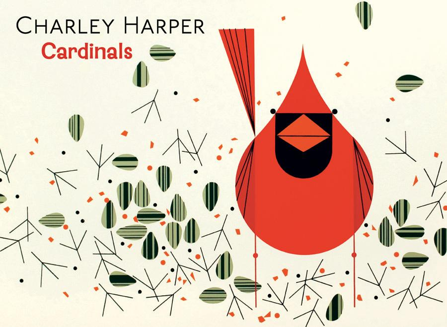 CHARLEY HARPER: CARDINALS BOXED NOTECARDS