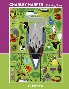 CHARLEY HARPER: 50 DRAWINGS COLORING BOOK