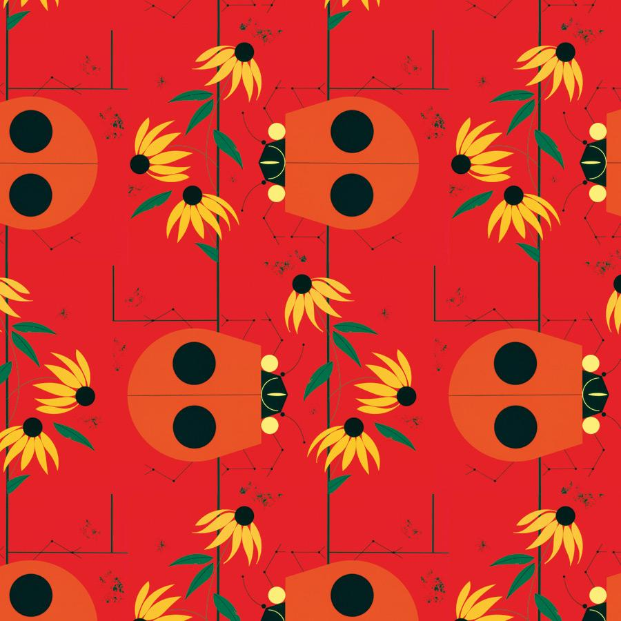 charley harper: the bug that bugs nobody designer gift wrap