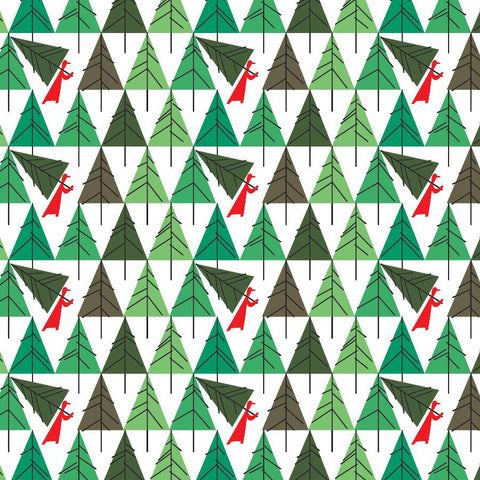 Charley Harper Perfect Tree designer gift wrap