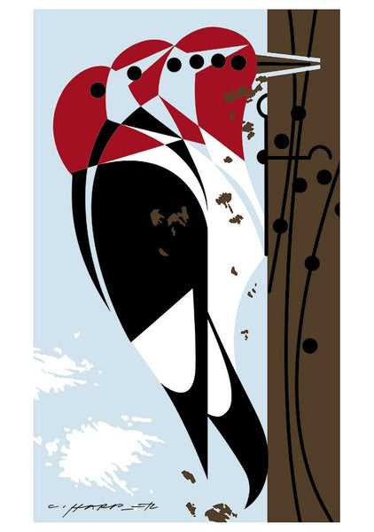 CHARLEY HARPER: WOODPECKERS NOTE CARDs