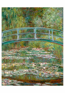 CLAUDE MONET: BRIDGE OVER A POND OF WATER LILIES NOTECARD