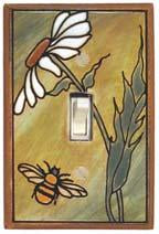 Daisy Bee Light Switch Plate Covers
