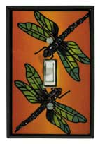 Multi-Color Dragonfly Single Light Switch Cover