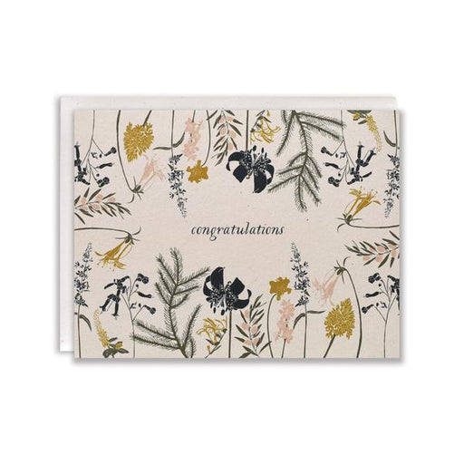 Language of Flowers Congratulations Card
