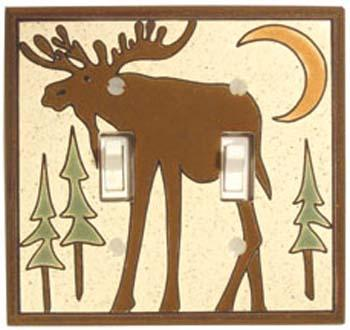 Bull Moose Double Light Switch Plate Covers