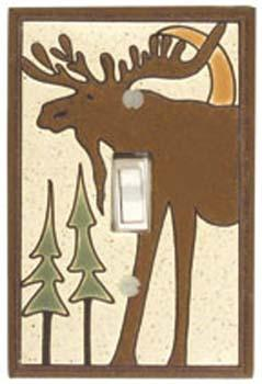 Bull Moose Light Switch Plate Covers