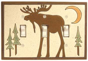 Bull Moose Triple Light Switch Plate Covers