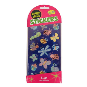Glow-in-the-Dark: Cute Bugs Stickers