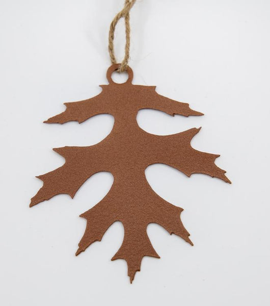copper wrinkle pin oak ornament