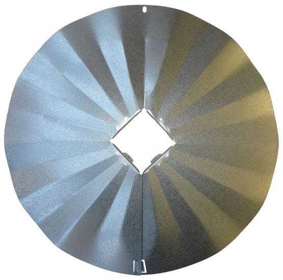 4X4 Disk Squirrel Baffle - Galvanized Finish