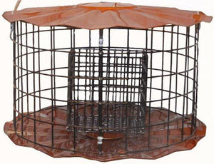Copper Double Suet Cake Feeder