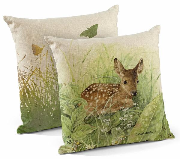 "Waiting for Mom Fawn 18"" Decorative Pillow"