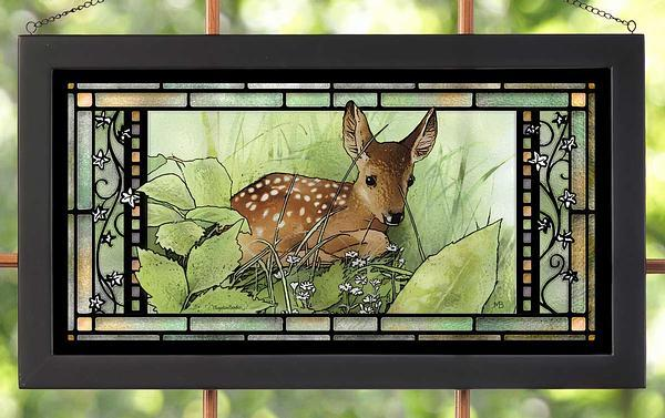 Hidden Fawn Stained Glass Art