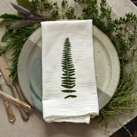 Wood Fern and Resurrection Fern Napkin Set