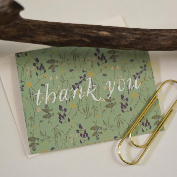 wild thank you card with paperclip