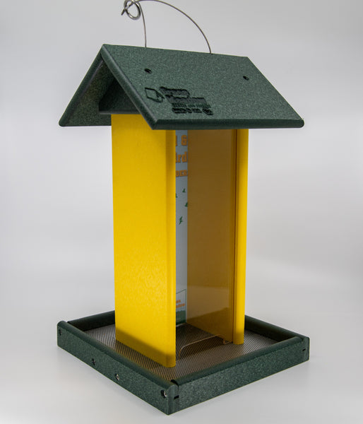 Green and yellow Tall Bird Feeder