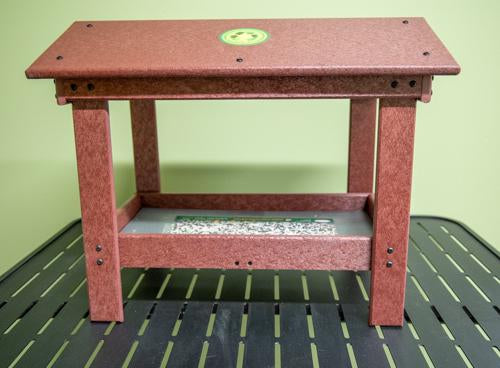 Ground Tray Bird Feeder with Roof - 9 x 17