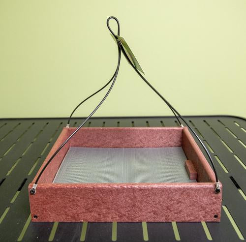 Cherry Hanging Tray Feeder - 12 x 12