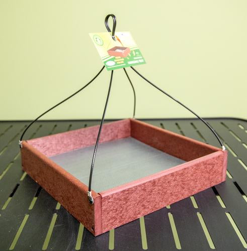 Hanging Tray bird Feeder - 12 x 12
