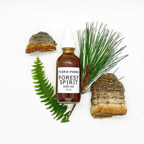 forest spirit massage and body oil with mushrooms
