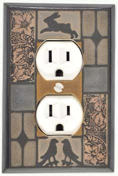 Mission Tile outlet Plate Covers