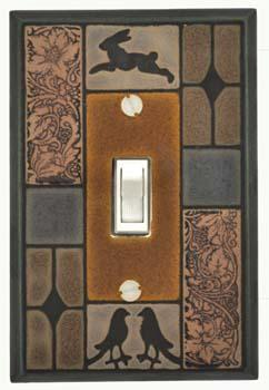 Mission Tile Light Switch Plate Covers